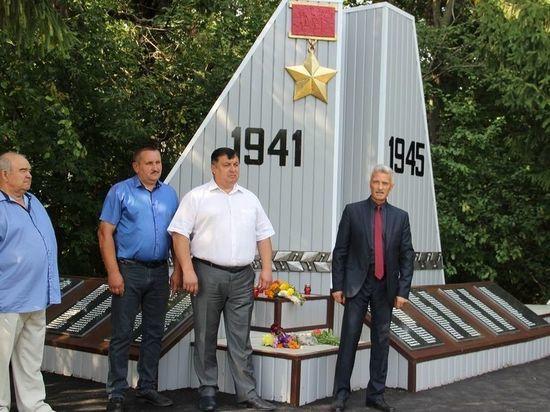 В Тамбовской области восстановили военный обилиск