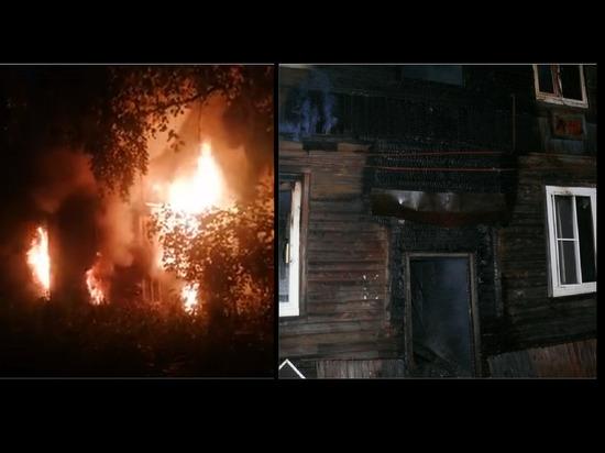В пожаре в Архангельске, оставившем без крыши 19 человек, возможен криминальный след