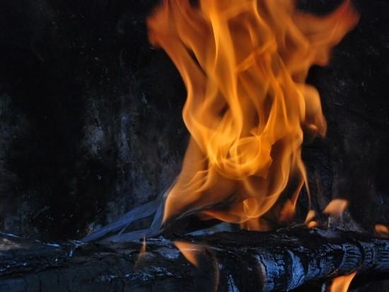 В Бурятии из-за грозы загорелся лес