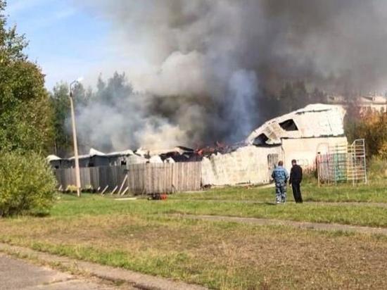 В Коряжме сгорел тир, есть версия намеренного поджога