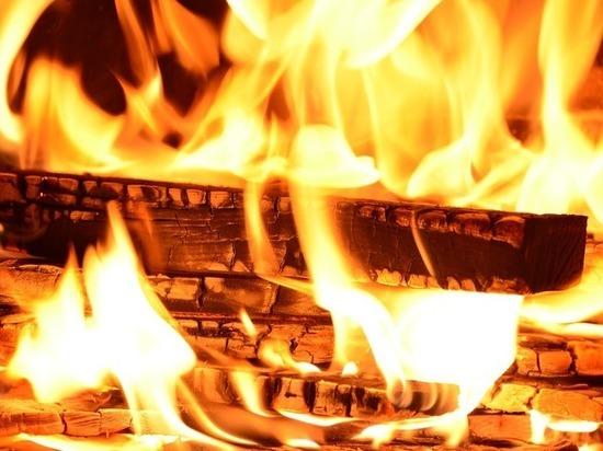 В Бурятии горевшая пилорама чуть не подожгла лес