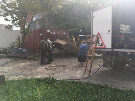 Незаконные гаражи в Сормовском районе сносят, чтобы построить парковку