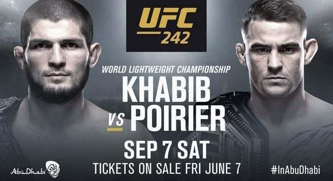 Хабиб Нурмагомедов - Дастин Порье: онлайн-трансляция турнира UFC 242