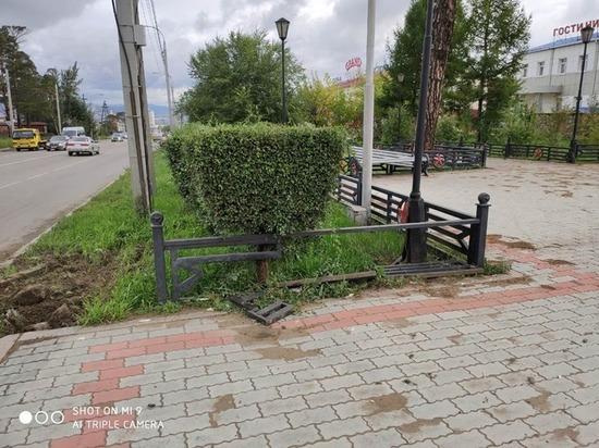 В Улан-Удэ задержали водителя, повредившего Мемориал воинам, умершим от ран
