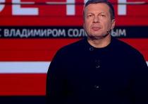 Владимир Соловьев разнес оппозицию из-за реакции на попытку ограбления Памфиловой