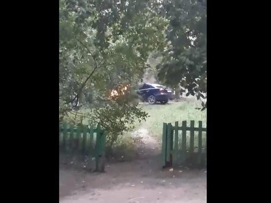Автомобиль загорелся на проспекте Советов в Чите