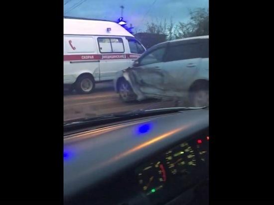 ДТП произошло на Рахова в Чите во время ливня