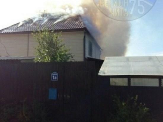 Пожар жилого дома произошел в Смоленке