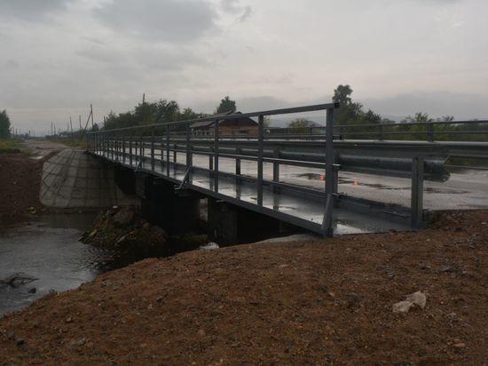 Разрушенные наводнением мосты в Шилке полностью восстановили