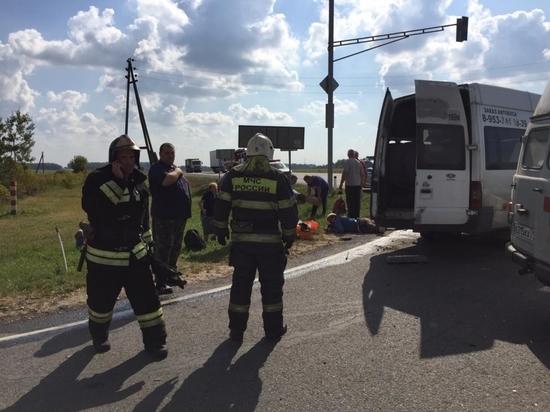 Пассажирский автобус разбился в Тульской области