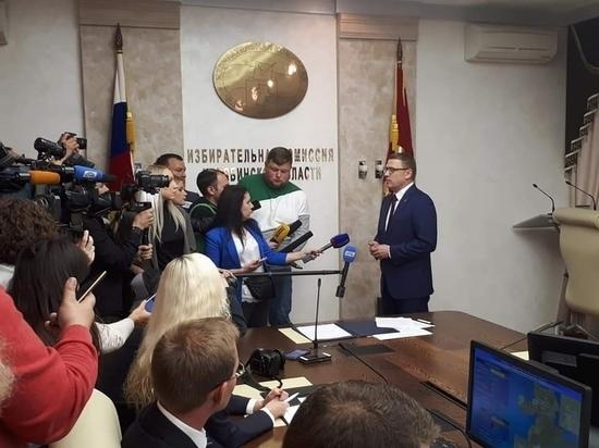 В челябинском облизбиркоме поздравили Алексея Текслера с победой на выборах