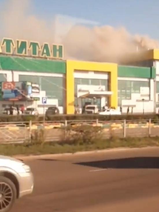 В Улан-Удэ горит