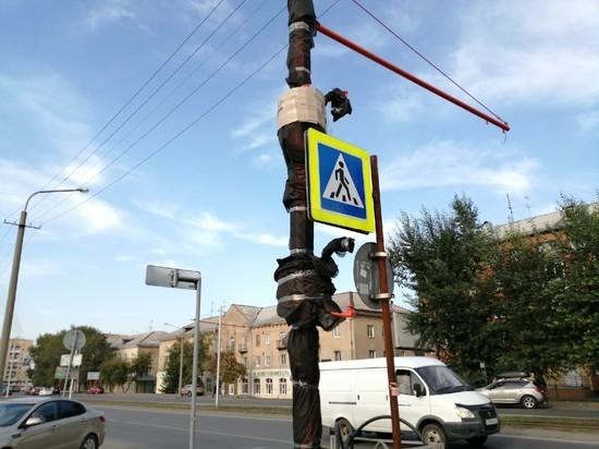 Дорогу возле кемеровского вокзала оборудовали светофором