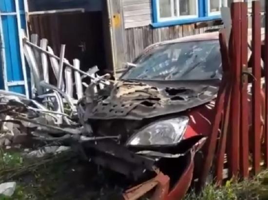 Пьяный водитель врезался в дом в Арзамасе