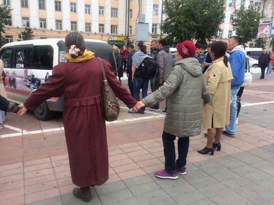 В Улан-Удэ задержали нескольких участников стихийного митинга