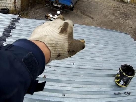 Няндомский безработный ободрал крышу чужого гаража ради кровельного железа