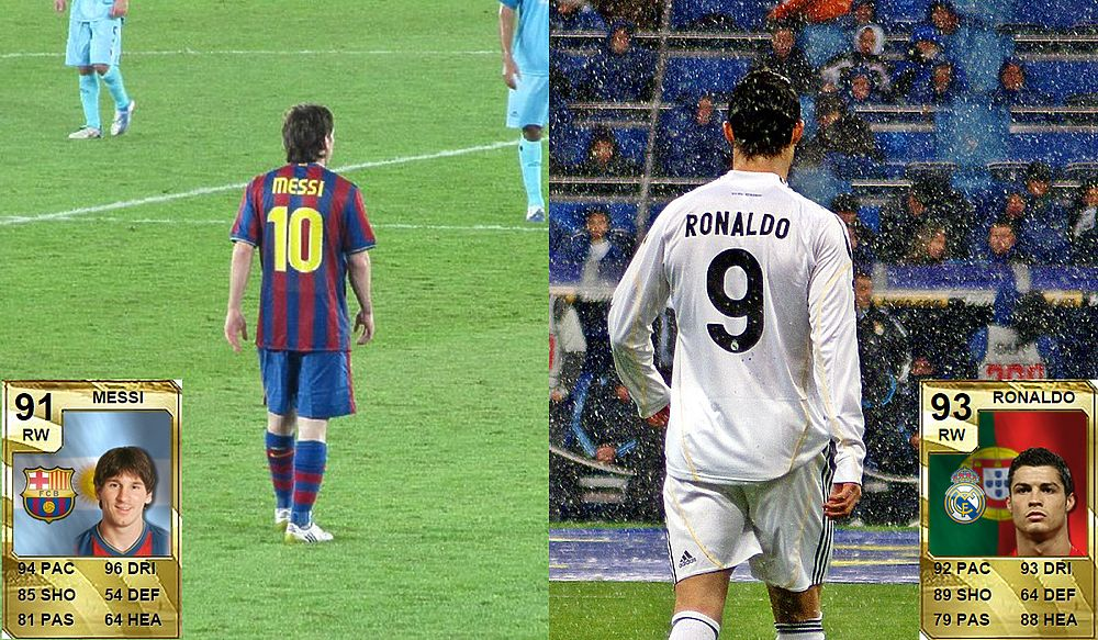 Великое противостояние: как менялись рейтинги Месси и Роналду в играх
