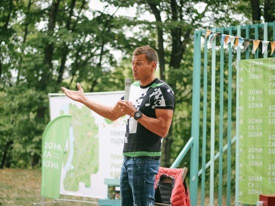 Олимпийский чемпион Александр Легков  встретился с курской молодежью