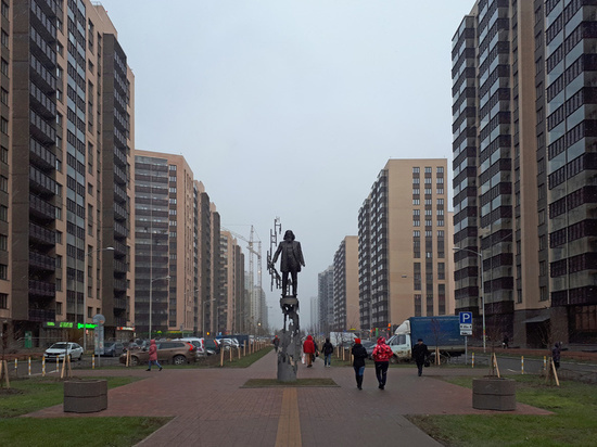 В Мурино начали застраивать бульвар Менделеева