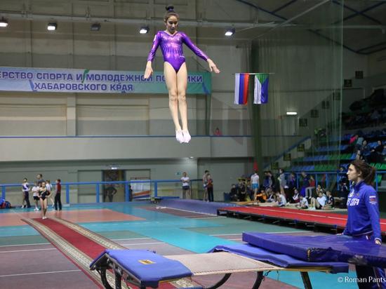 Российская сборная по прыжкам на батуте провела тренировку в Хабаровске