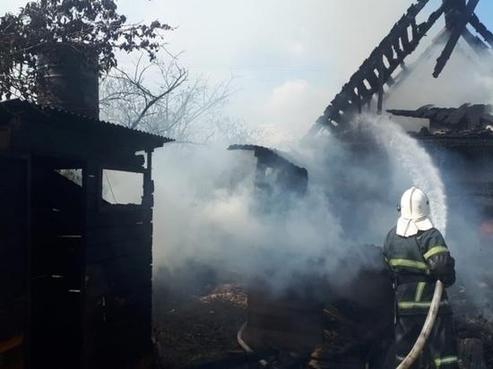 Под Калугой сгорел дом