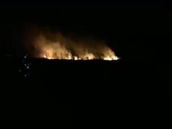 Шесть часов в Ростовской области тушили ландшафтный пожар