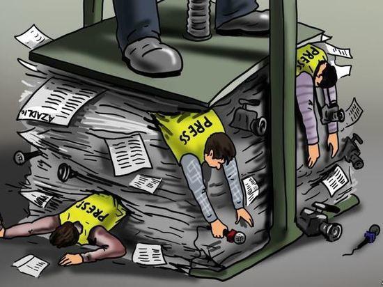 Как в Хакасии люди в пиджаках с площади газетчиков выгоняли