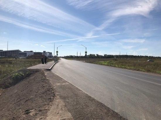 Завершается ремонт дороги Псков - Родина