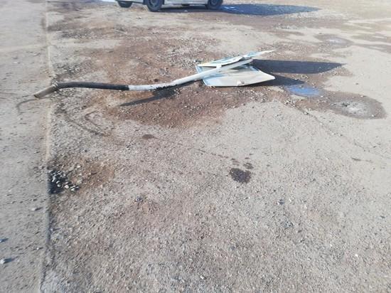 В Бузулуке пьяный водитель повредил остановку
