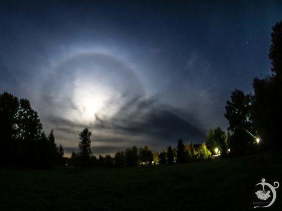 В Кировской области наблюдали лунное гало