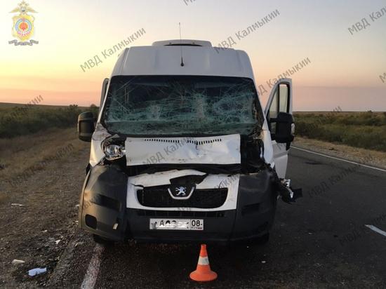 Сегодня в аварии на дороге Калмыкии ранено пять человек