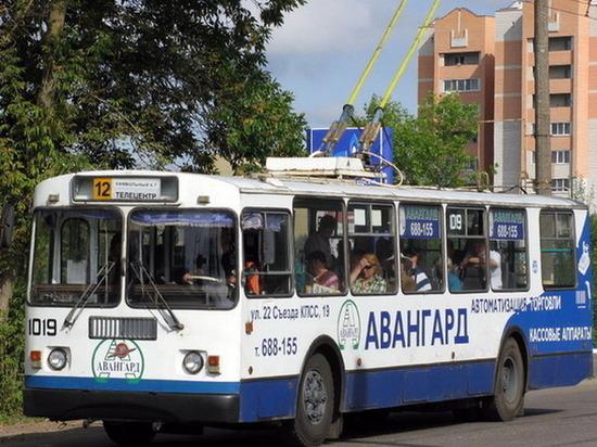 В Брянске на  Авиационной приостановили движение троллейбусов