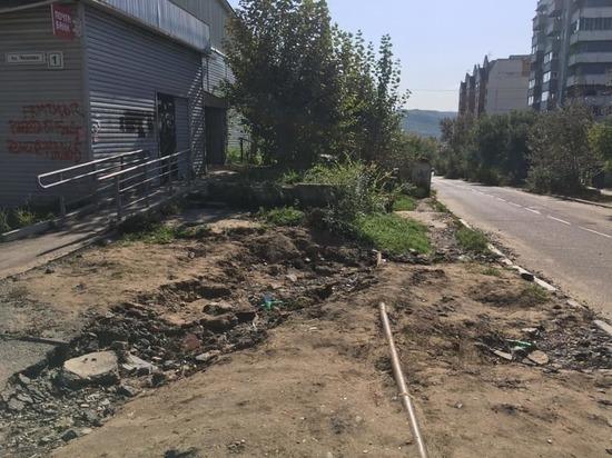 Читинский урбанист «похвалил» власть за «фронтовые» тротуары на Чкалова