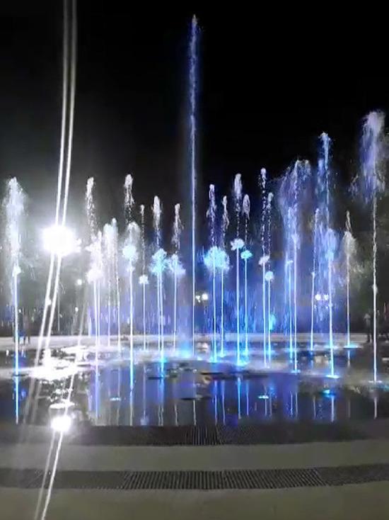 Как будет работать новый фонтан в Центральном парке Новосибирска