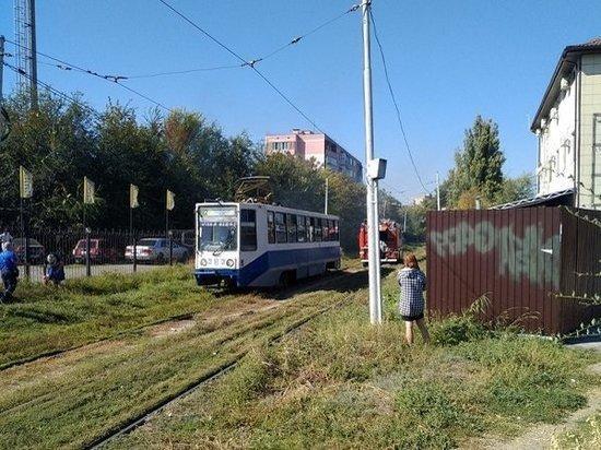 В Таганроге на ходу задымился трамвай