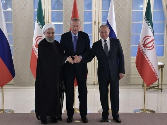 Песков: РФ, Турция и Иран не планируют совместную операцию в Сирии