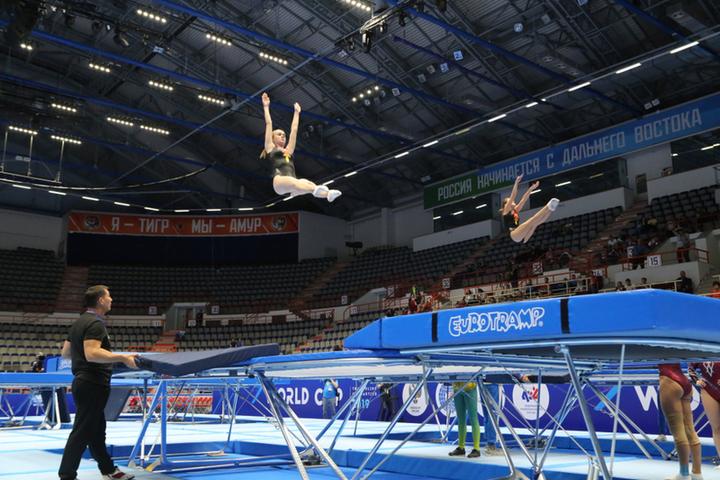 Чемпионат России по прыжкам на батуте завершился в Хабаровске