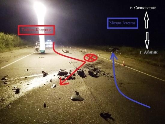 В Хакасии житель Саяногорска, будучи пьяным, совершил аварию, в которой погибли два его пассажира