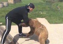 """Международная организация """"Люди за этичное обращение с животными"""" раскритиковала Хабиба Нурмагомедова после появления ролика, на котором российский боец избивает медвежонка, посаженного на цепь"""