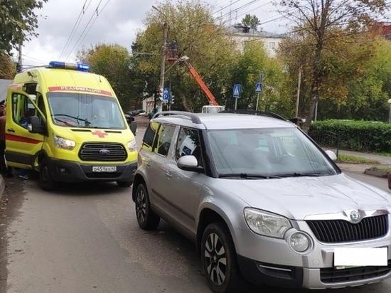 Напротив УГИБДД в Калуге иномарка сбила пешехода