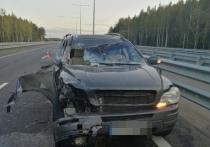 В Тверской области водитель шведского паркетника столкнулся с фурой