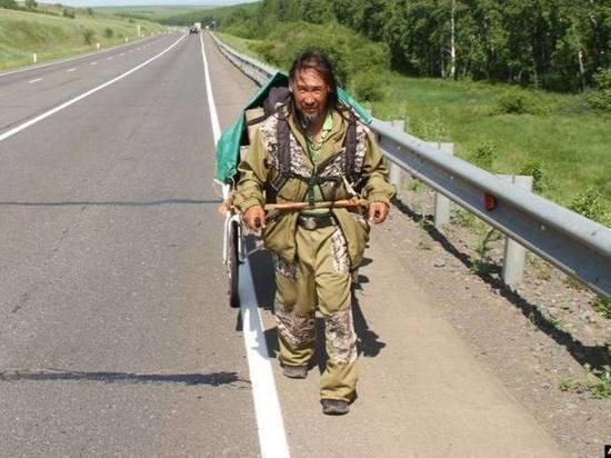 Шамана Габышева задержали завернутым в палатку в одних подштанниках