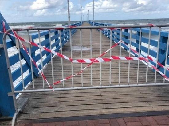 В Калининградской области закрыли пирс, где погиб турист из Латвии