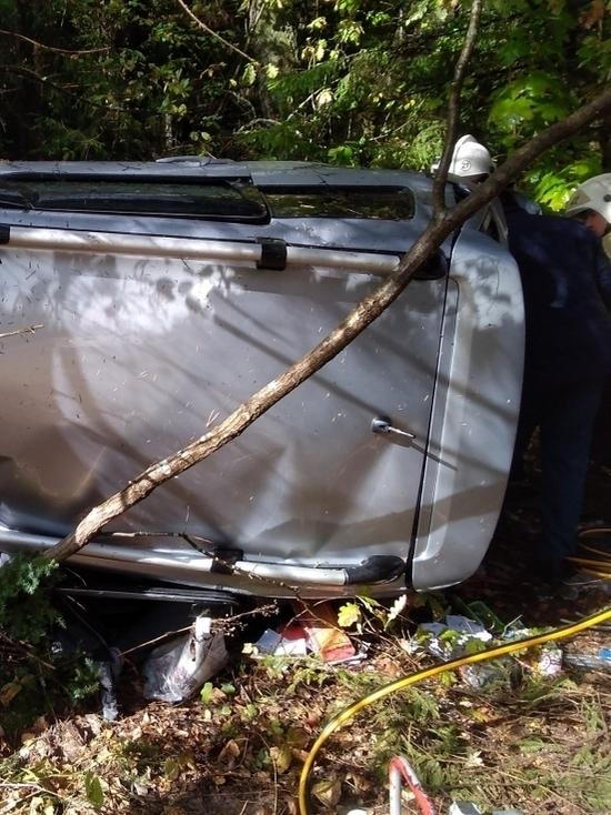 Несколько человек пострадало в вылетевшей в кювет иномарке на калужской трассе