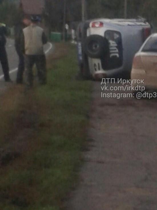 Пьяный пассажир трактора в Качугском районе перевернул машину ДПС