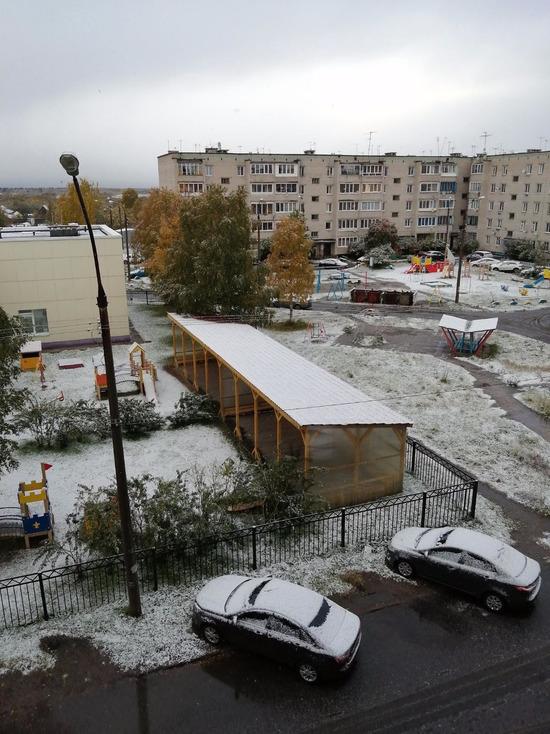 Зима близко: в Архангельске первый снег