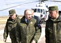 Путину показали «огненный мешок» и «вертолетную карусель»