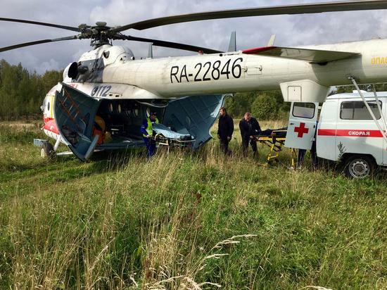 17 сентября вертолеты санитарной авиации трижды вылетали в районы Верхневолжья