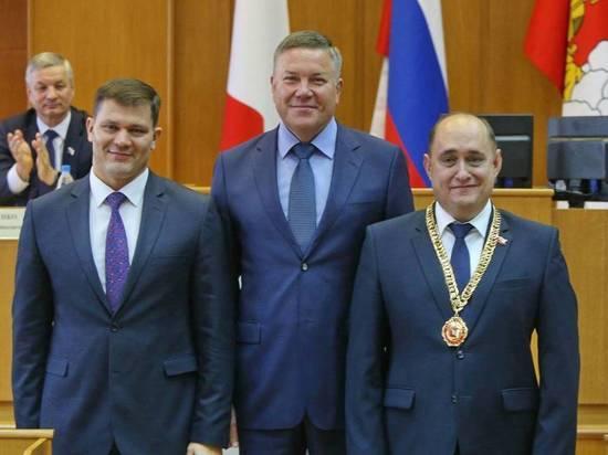 Губернатор поздравил Юрия Сапожникова с вступлением в должность Главы города Вологды