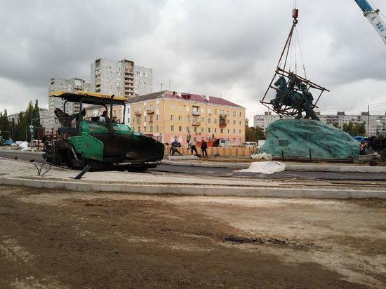 На Привокзальной площади рабочие вышли на заключительный этап благоустройства